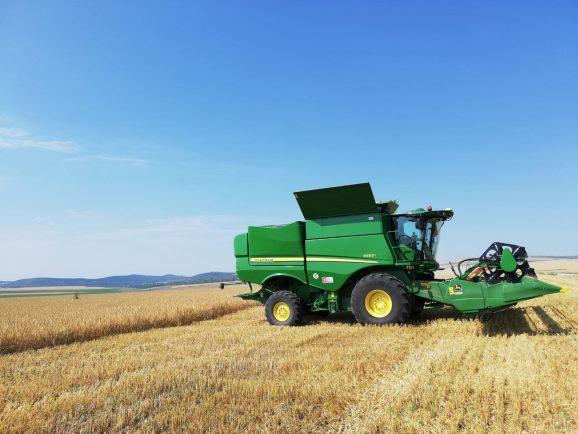 Harvesting started at Bio Farm Crucea