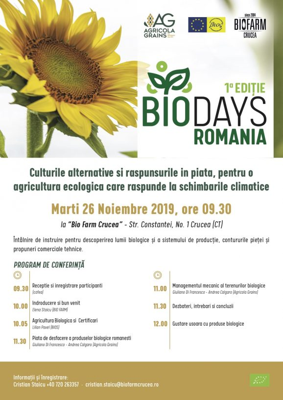 BIO DAYS ROMANIA 1st EDITION